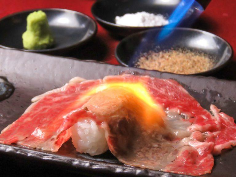 黒毛和牛 大ネタ肉寿司